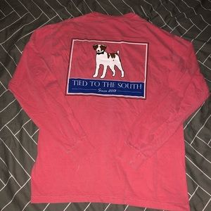 Comfort Colors Shirts - Tied to the South - Mens Long Sleeve - Medium